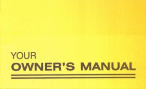 owners manual 2